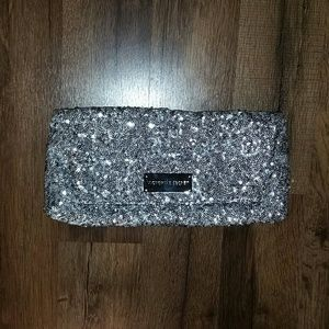 Victoria's Secret silver sequin clutch